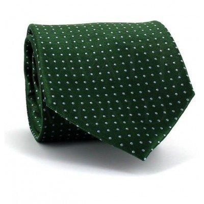 Corbata Puntos Verde Oscuro