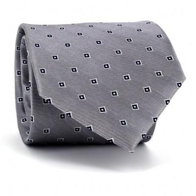 Corbata Cuadritos Plateada