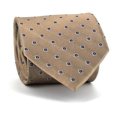 Corbata Cuadritos Dorada