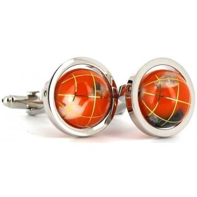 Gemelos Globos Terráqueos Naranjas