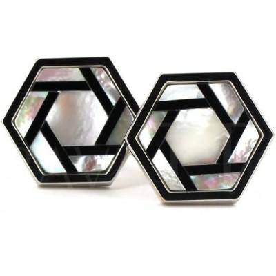 Gemelos Nácar Hexagonal