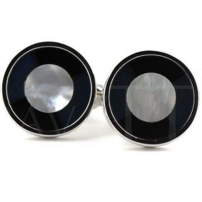 Gemelos Nácar Circulares