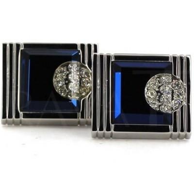 Gemelos Cristales Azul Marino