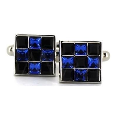 Gemelos Cristales Cuadrados Azules I