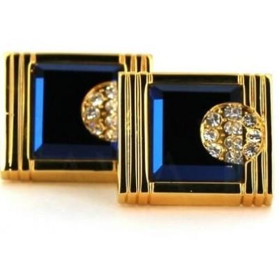 Gemelos Cristales Dorados y Azules