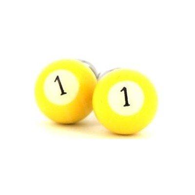 Gemelos Bolas Billar Amarillo 1