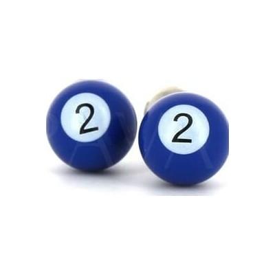 Gemelos Bolas Billar Azul 2