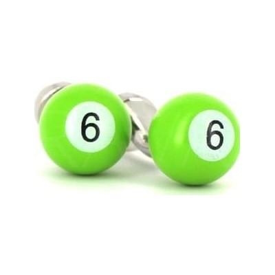 Gemelos Bolas Billar Verde 6