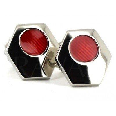Gemelos Esmaltados Hexagonales Rojos