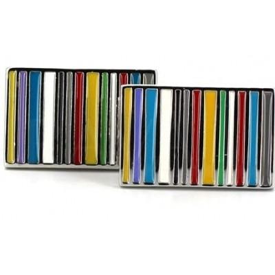 Gemelos Esmaltados Rectangulares Multicolor