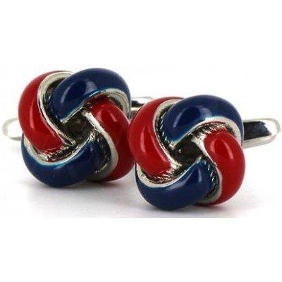 Gemelos Nudos Rojo y Azul Marino