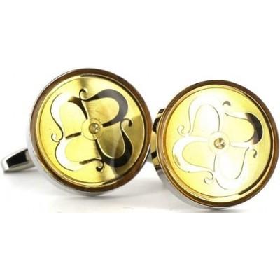 Gemelos Circulares Dorados