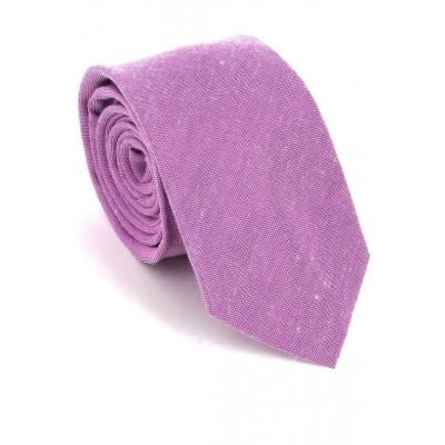 Corbata Estrecha Lisa Lila