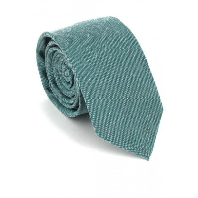 Corbata Estrecha Lisa Verde