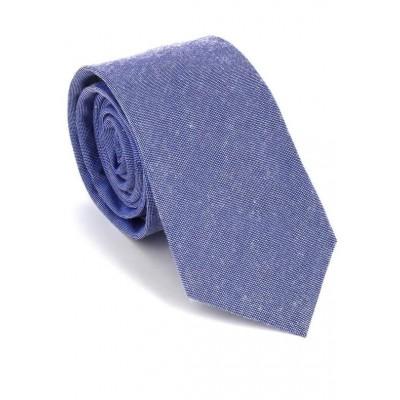 Corbata Estrecha Lisa Azul