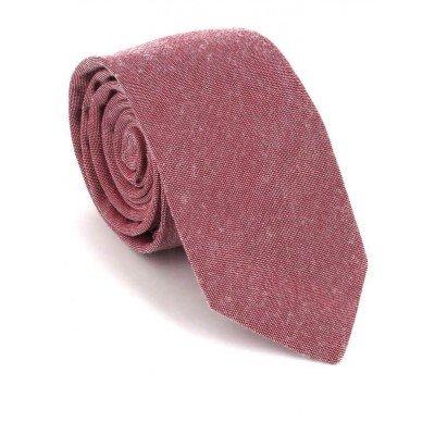 Corbata Estrecha Lisa Roja