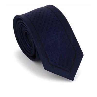 Corbata Estrecha Moderna Azul Marino y Negra