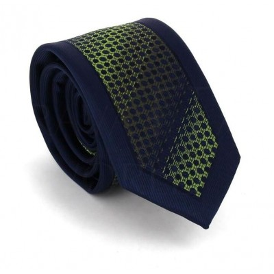 Corbata Estrecha Moderna Azul Marino y Verde
