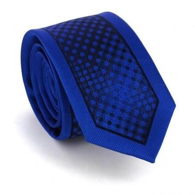 Corbata Estrecha Moderna Azul y Negra