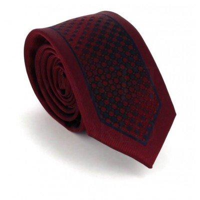 Corbata Estrecha Moderna Granate y Negra