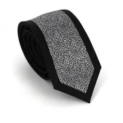Corbata Estrecha Moderna Negra y Blanca I