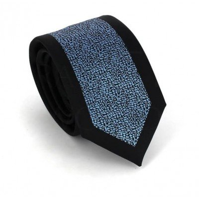 Corbata Estrecha Moderna Negra y Azul
