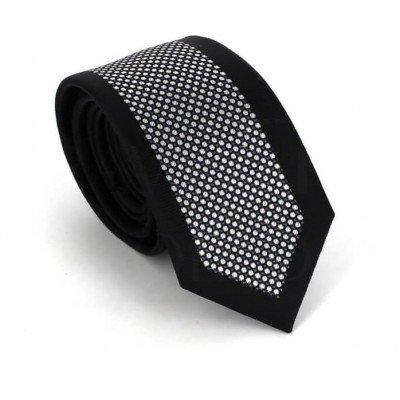 Corbata Estrecha Moderna Negra y Blanca II