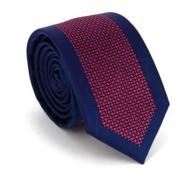 Corbata Estrecha Moderna Azul Marino y Rosa