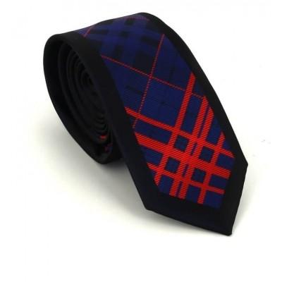 Corbata Estrecha Dibujo Geométrico Tricolor