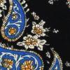 Corbata Estrecha Paisley Negra