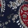 Corbata Estrecha Paisley Azul