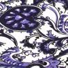 Corbata Estecha Paisley Blanca