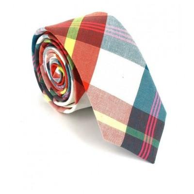 Corbata Estrecha de Cuadros