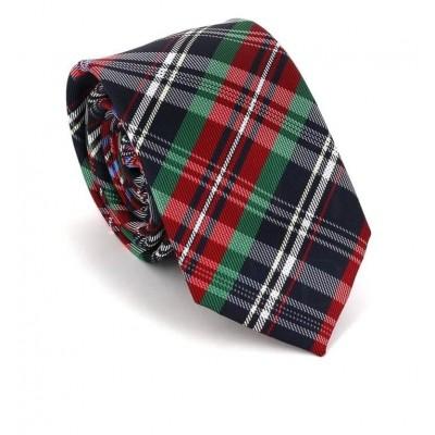 Corbata Estrecha de Cuadros Multicolor