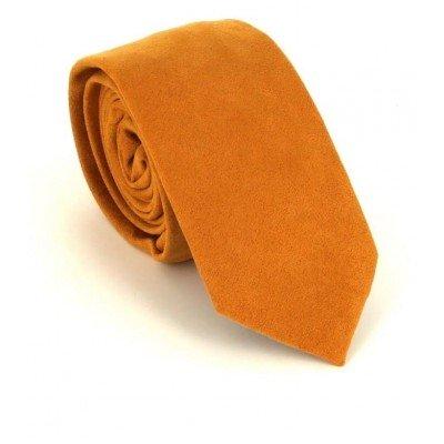Corbata Estrecha Antelina Amarilla Ocre