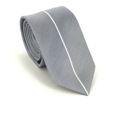 Corbata Estrecha Moderna Gris