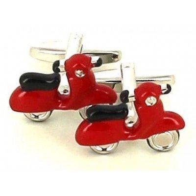 Gemelos Moto Scooter Vespa Roja
