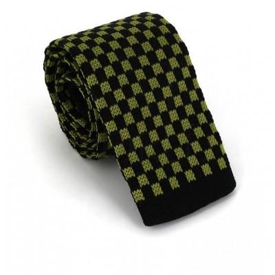 Corbata Punto Cuadros Verdes