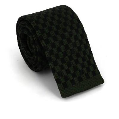 Corbata Punto Cuadros Verde y Negra