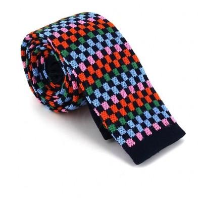 Corbata Punto Cuadros Multicolor