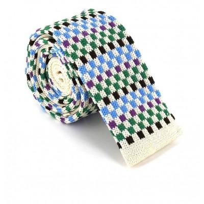 Corbata Punto Cuadros Multicolor II