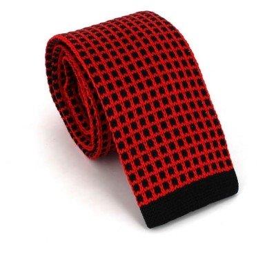 Corbata Punto Cuadros Roja y Negra