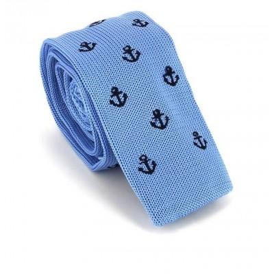 Corbata Punto Anclas Azul Celeste