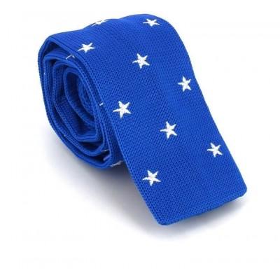 Corbata Punto Estrellas Azul