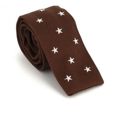 Corbata Punto Estrellas Marrón