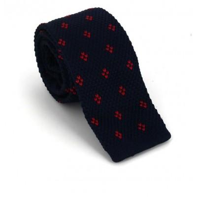 Corbata Punto Estampada Azul y Roja