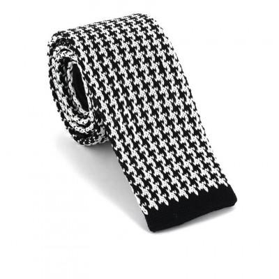 Corbata Punto Estampada Negra y Blanca I