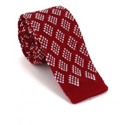 Corbata Punto Roja Estampada Rombos