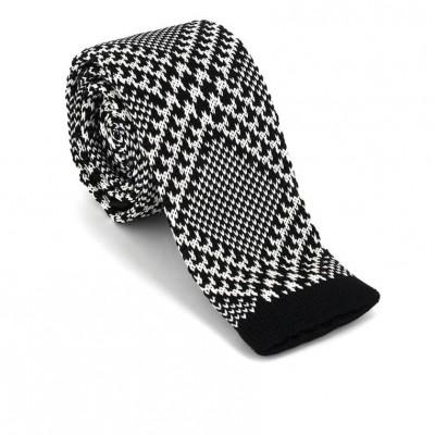Corbata Punto Estampada Negra y Blanca II