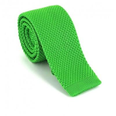 Corbata de Punto Lisa Verde Claro